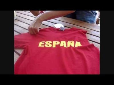 Hazlo tú misma 4. Customizar camiseta, por ejemplo, para animar a la selección.