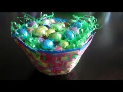 Manualidades - Como Hacer Una Canasta de Pascua