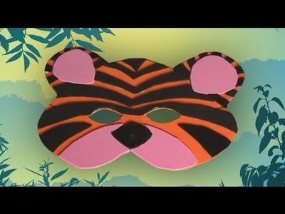 Manualidades de una antifaz de tigre, disfraces de carnaval