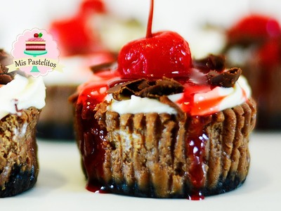 MINI CHEESECAKES CUPCAKES DE CHOCOLATE | SELVA NEGRA (BLACK FOREST)