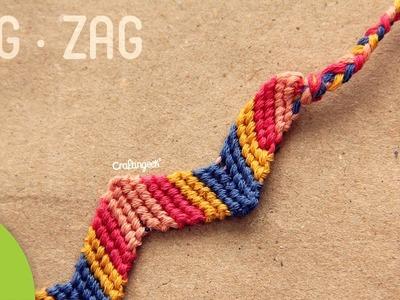 Pulsera de hilo: Zigzag. Friendship Bracelet