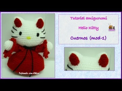 Tutorial amigurumi Hello Kitty - Cuerno (mod-1)