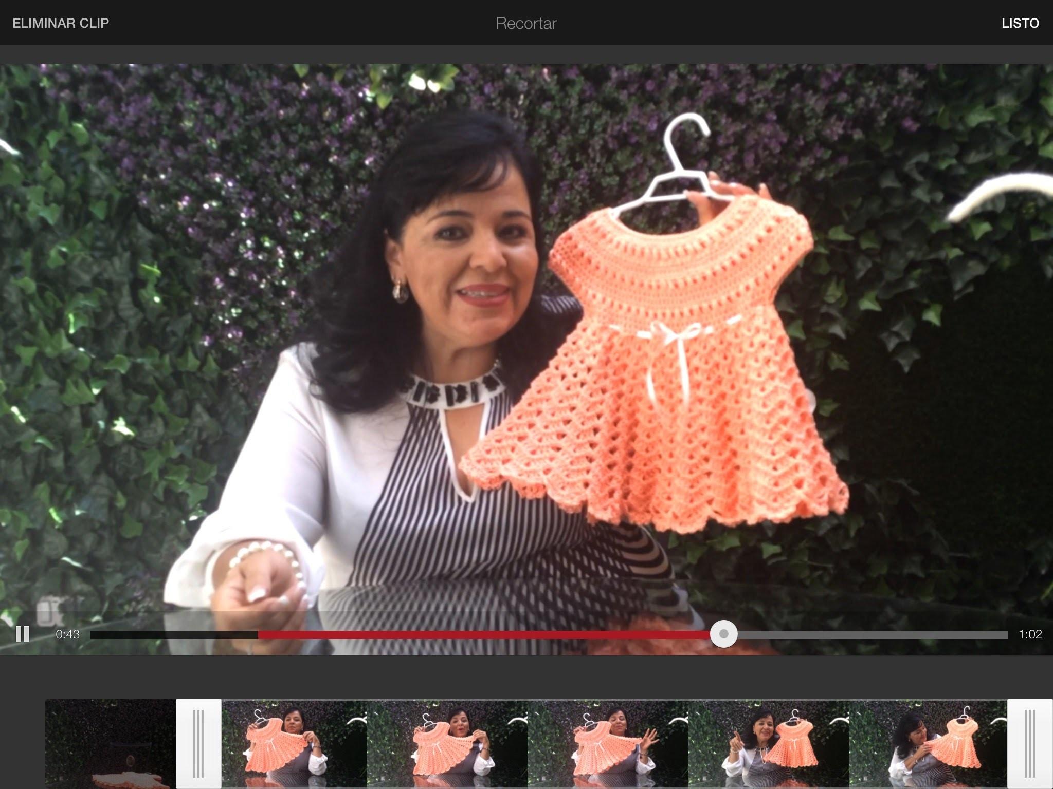 Vestido para niña - Lanas y Ovillos y Tejiendo con Laura Cepeda - Segunda Parte