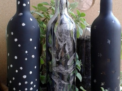 Ideas para decorar botellas de vidrio animal print