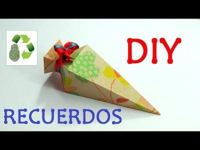 102. DIY RECUERDOS (RECICLAJE DE CAJA DE CARTON)