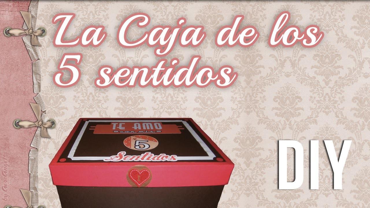 CAJA DE LOS 5 SENTIDOS | regalo San Valentin. Aniversario | Vintage Box
