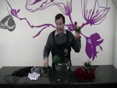 Como elaborar una Esfera de rosas rojas (parte1)