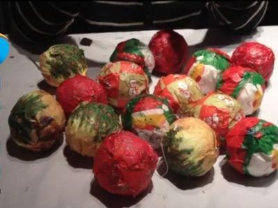 Como hacer bolas del arbol de navidad para niños