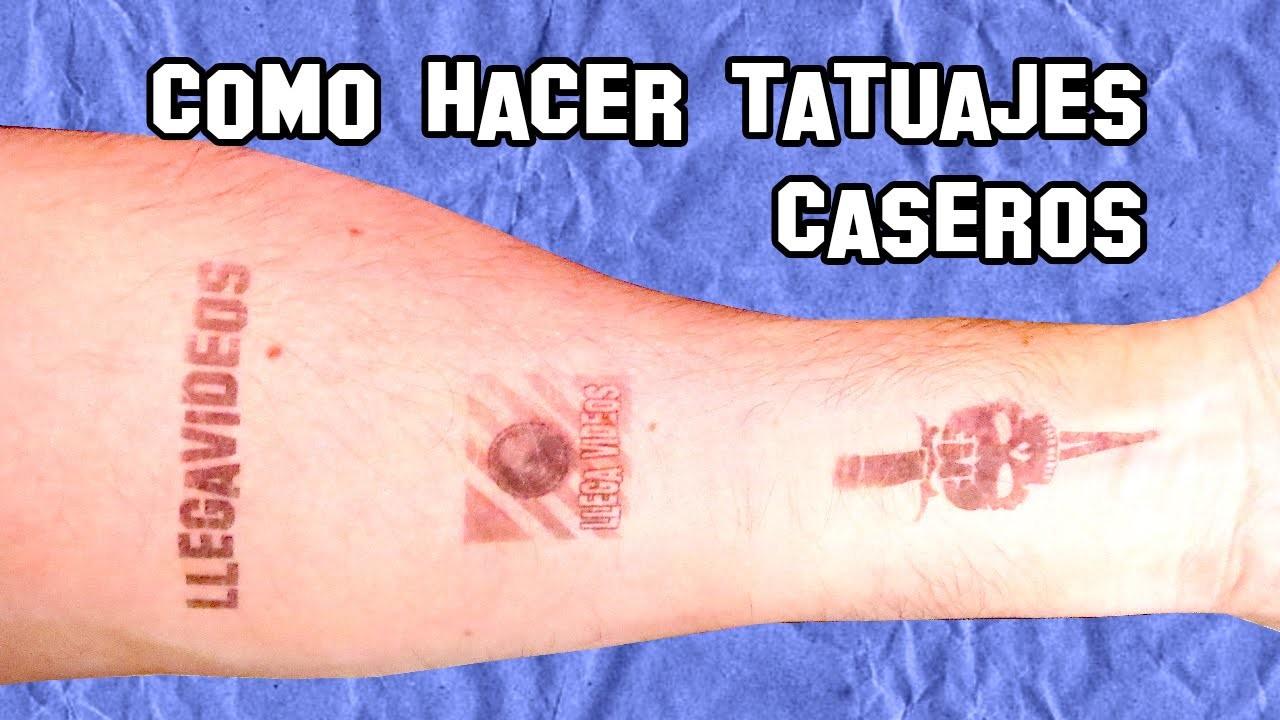 Como Hacer Tatuajes Temporales Caseros | DIY