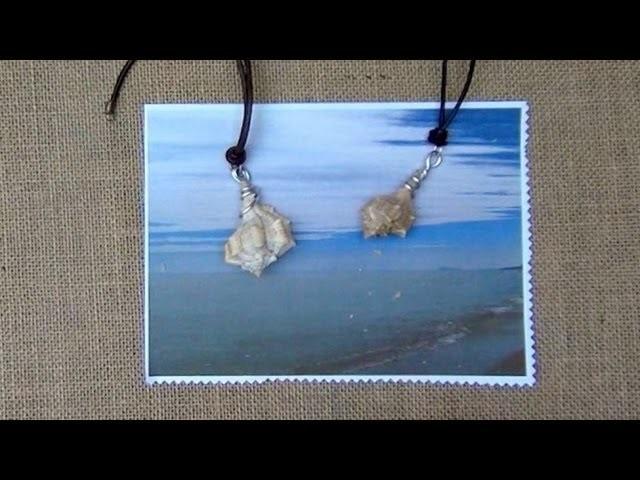 Cómo hacer un collar con una caracola de mar. El collar más bonito del mundo