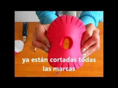 Cómo hacer un disco KUMIHIMO para tejer pulseras 2 de 2 tutorial. Inerya viris