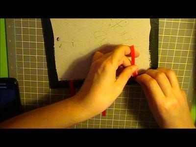 Como hacer un ecuadernado tipo acordeón con cintas vistas: segunda parte