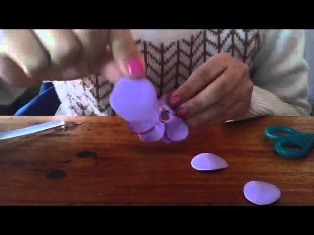 Como hacer una flor de goma eva