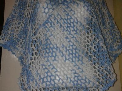 Cómo tejer un poncho fácil para la época de calor (Poncho primavera).