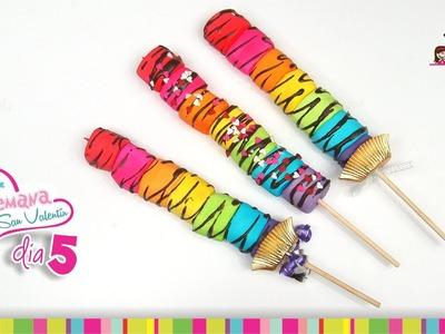 (Day 5) Marshmallows Lollipops Valentine's Day. (Día 5) Paletas de Malvaviscos San Valentín