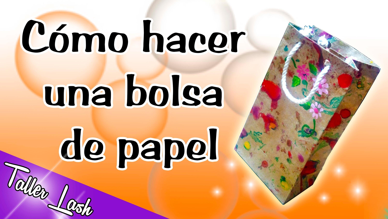 (DIY) BOLSA DE PAPEL (PARA REGALO)
