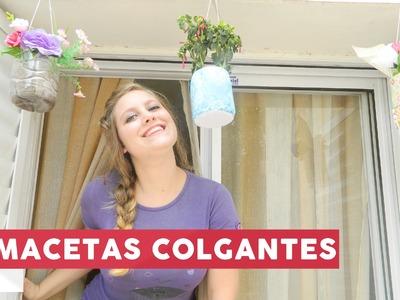 DIY - MACETAS COLGANTES, CON RECICLAJE ¡MUY FÁCIL! @yanibrilz