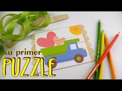 DIY: su primer puzzle - puzzle for babies