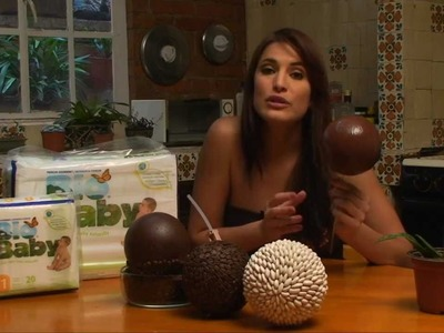 Esferas decorativas con semillas