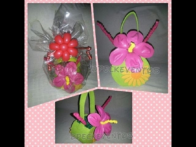 Flor fantasia de globos. Fantasy Flower Balloons - tutorial step by step