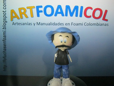 FOFUCHO DON RAMON EN FOAMY GOMAEVA CON MOLDES TUTORIAL COMPLETO