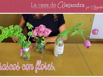 Frascos con Flores - DIY - Alejandra Coghlan