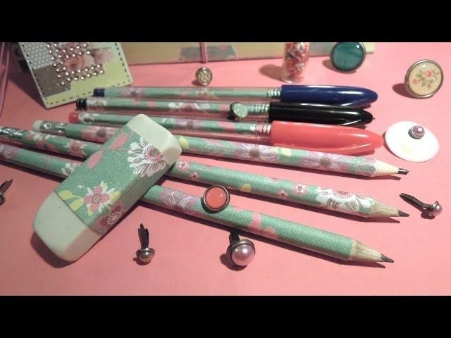Manualidades para la vuelta al cole: Cómo decorar lápices y bolígrafos. TUTORIAL