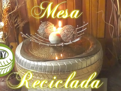 Mesa Reciclada de Neumático Puff.DIY : How to Make Designer Seats Using Old Tyres