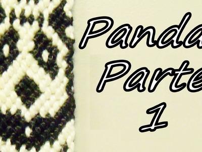Pulsera de Hilo: Pandas Parte 1