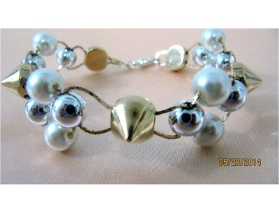 Pulseras bracelets fáciles  con perlas paso a paso
