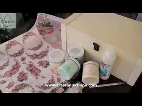 Reciclar con pintura DECOR Americana chalky y decoupage II
