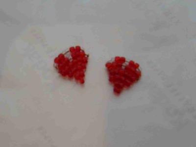 San Valentín DIY corazón de abalorios.chaquiras. mostacillas