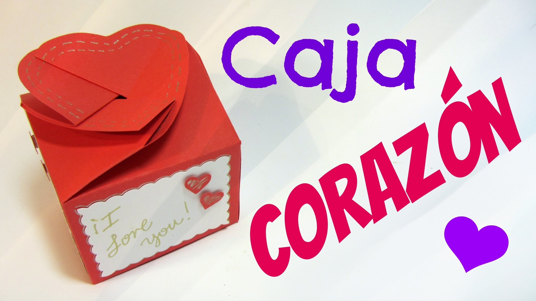 Tutorial: Caja corazón (San Valentín). Heart box.