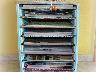 Tutorial: Estantería de cartón para papeles scrap