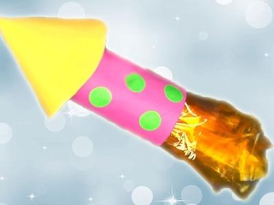 Un cohete con material reciclado. Manualidades para niños