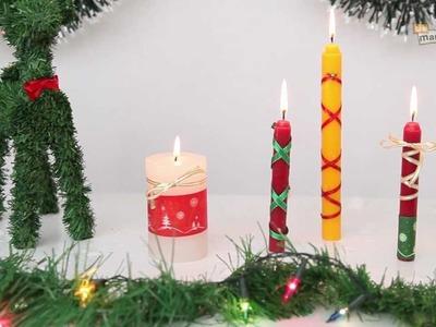 Velas navideñas decoradas