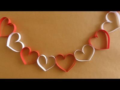 Cadena de Corazones {SUPER FACIL}. San Valentin