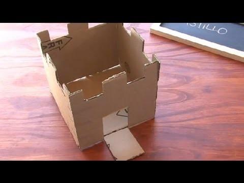 Cómo construir un castillo de caja de cartón : Manualidades para niños