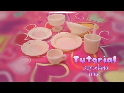 Como hacer Platitos vasos copas tazas PORCELANA FRIA.cold porcelain