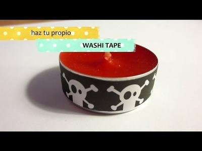 Cómo hacer tu propio washi tape