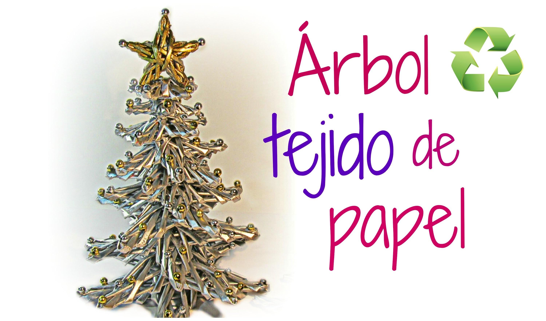 Cómo hacer un árbol de papel. How to make paper tree.