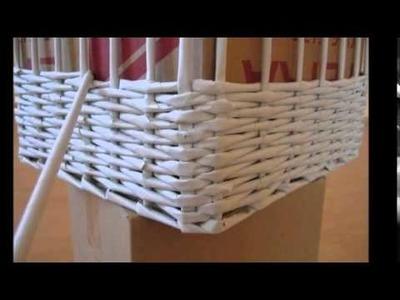 Cómo hacer un cesto con papel de periodico