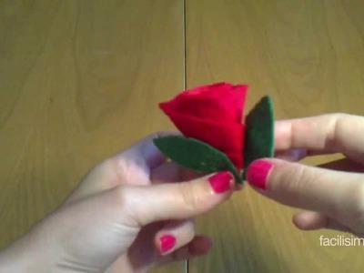 Cómo hacer una rosa con fieltro | facilisimo.com