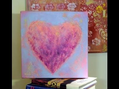 Como pintar un cuadro con Texturas en Acrilico- Claudia Kunze