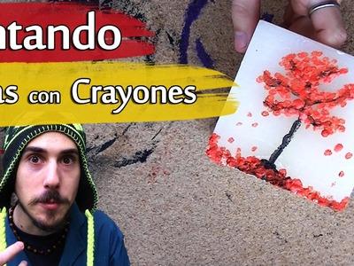 Cómo pintar Velas con Crayones