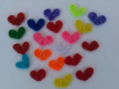 CORAZONES HECHOS CON LIMPIA PIPAS.- PIPE CLEANERS HEARTS