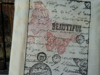 Decorar bolsa de tela con sellos