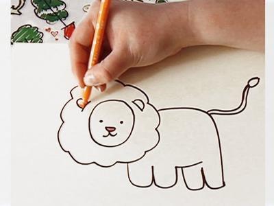 Dibuja un león - Aprende a dibujar