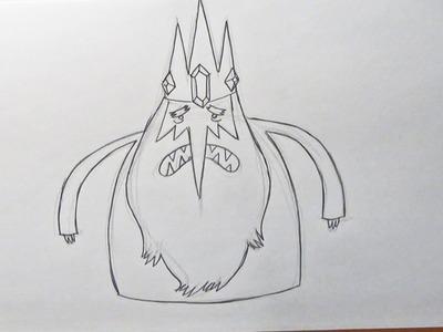 Dibujar al Rey Hielo de Hora de Aventura