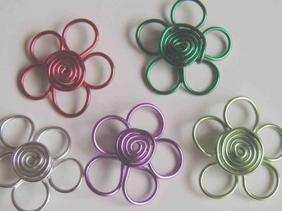 DIY Como hacer una flor con alambre. Flower wire.